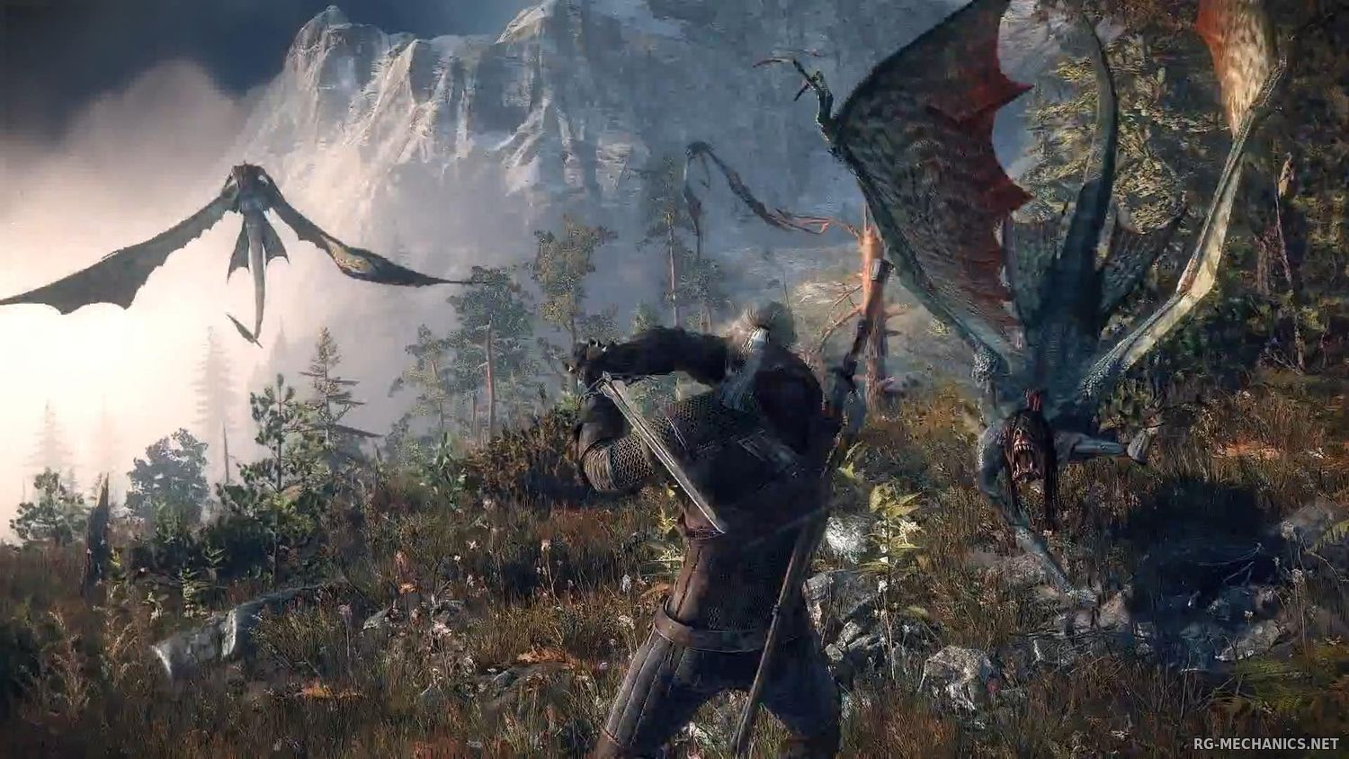 Скриншот 3 к игре The Witcher 3: Wild Hunt + The Witcher 3 HD Reworked Project (mod v. 12.0) (2015) скачать торрент RePack