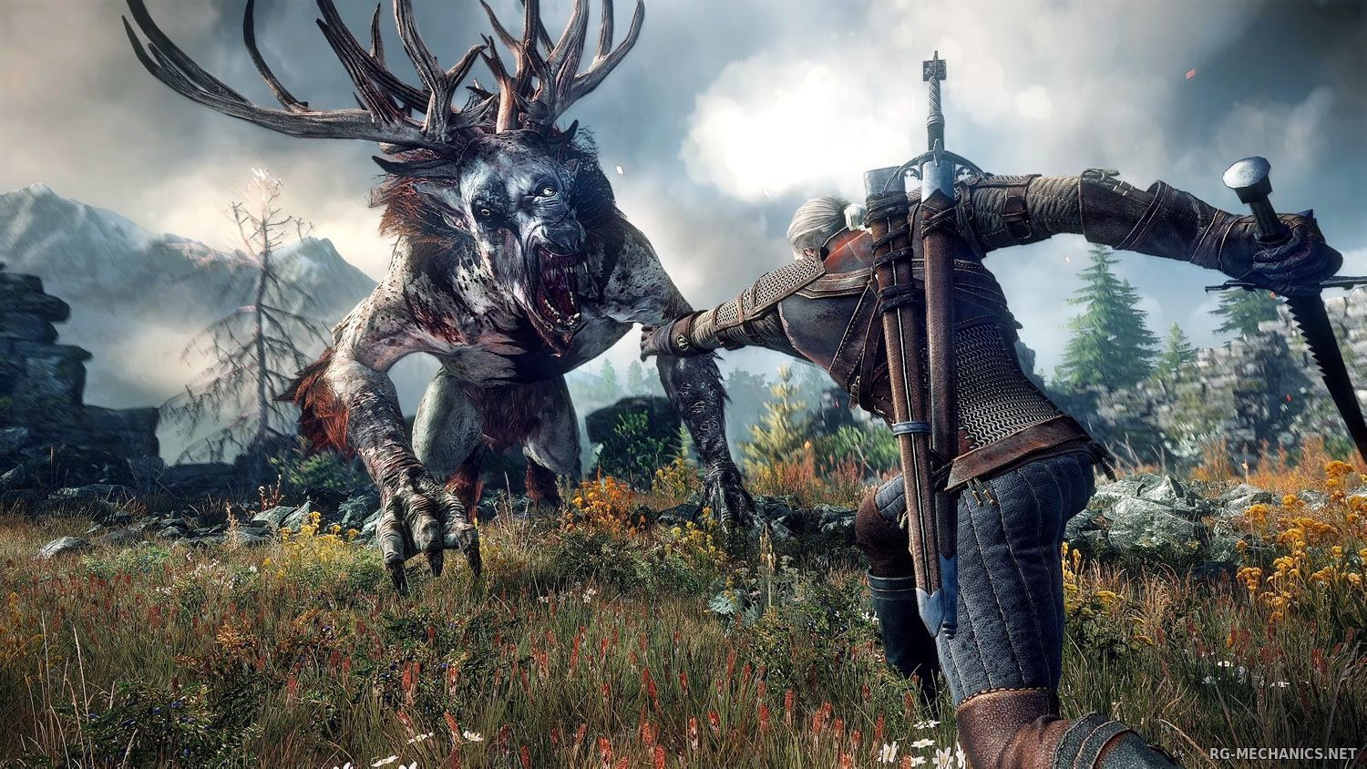 Скриншот 1 к игре The Witcher 3: Wild Hunt + The Witcher 3 HD Reworked Project (mod v. 12.0) (2015) скачать торрент RePack
